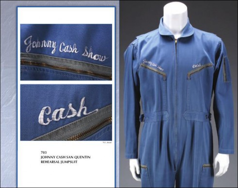 Jumpsuit worn by Johnny Cash during his rehearsal for Live at San Quentin