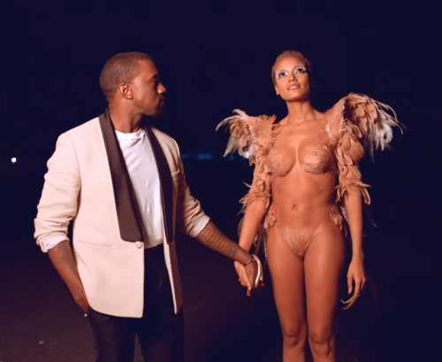 Kanye West and his sexy, nearly nude angel from the Runaway music video