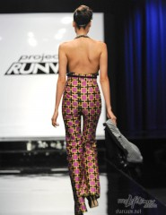 Back view of Mondo Guerra's HIV-positive inspired look