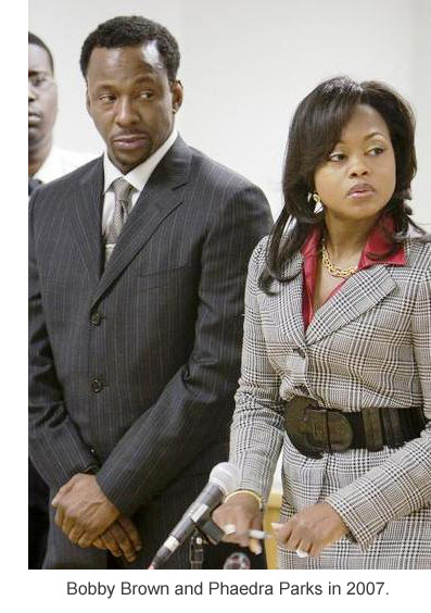 Bobby Brown and lawyer Phaedra Parks in 2007