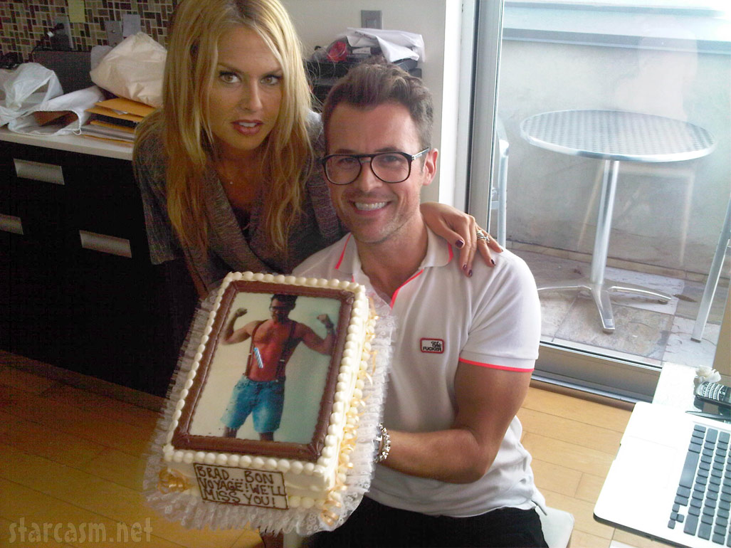 Rachel Zoe and Brad Goreski with his farewell cake