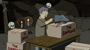 Banksy's dolphin head box sealer from The Simpsons