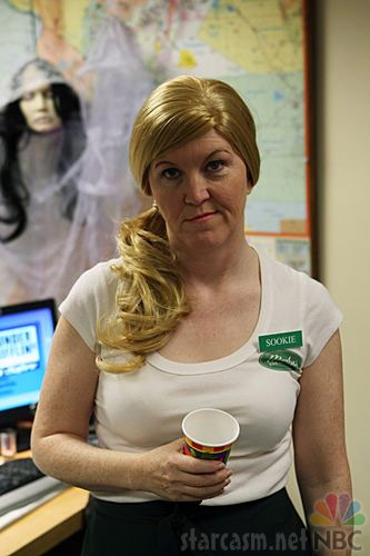 Meredith as Sookie from True Blood