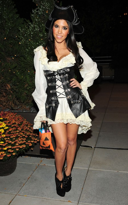 Kourtney Kardashian in a sexy pirate Halloween costume