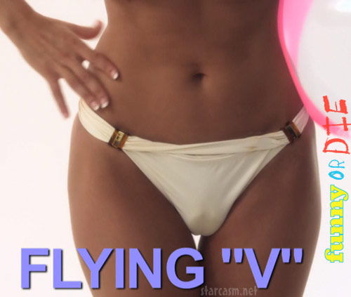 Flying V camel toe from Camel Shows by Kelly Brook