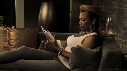 Kandi Burruss on the couch