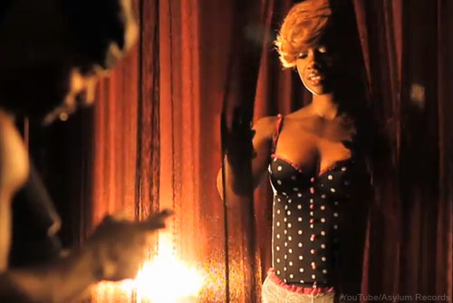 "Kandi Burruss in lingerie from her ""Leave U"" music video"