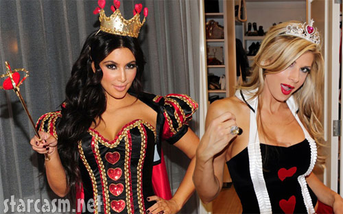 Lim Kardashian and Alexis Bellino in Queen of Hearts costumes