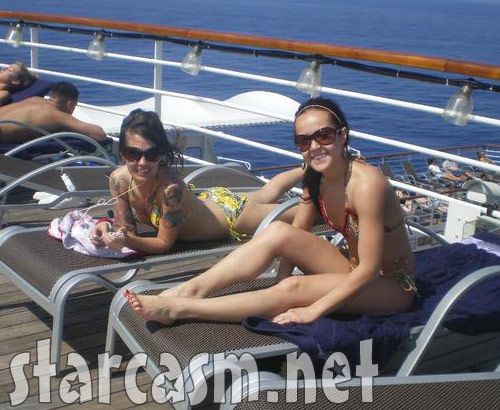 Ashley Hebert from The Bachelor 2011 looking sexy in a bikini while on a cruise