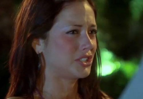 Chantal O'Brien cries during The Bachelor Season 15