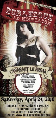Burlesque Le' Moustache poster featuring Danielle from American Pickers