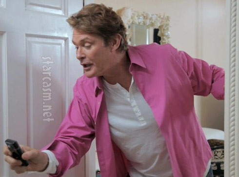 "David Hasselhoff films another episode of Hoffspace during ""The Hasselhoffs"""