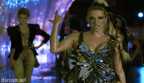 Ke$ha trying to look like Lady Gaga in her We R Who We R music video