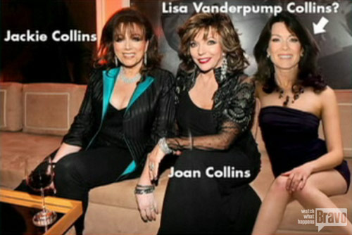 Jackie Collins, Joan Collins and Lisa Vanderpump Collins from Watch What Happens Live
