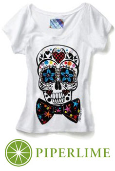 Mondo Guerra's exclusive Piperlime.com limited edition Sugar Skull t-shirt for World AIDS Day