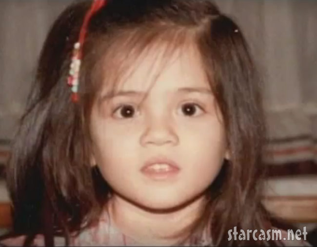 Cara Castronova as a young girl