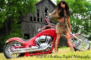 Teen Mom Farrah Abraham in Mastering the Art of American Motorcycles 2011 calendar