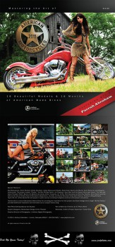 Farrah Abraham 2011 calendar Mastering the Art of American Motorcycles