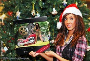 Farrah Abraham poses with her calendar at University of Nebraska