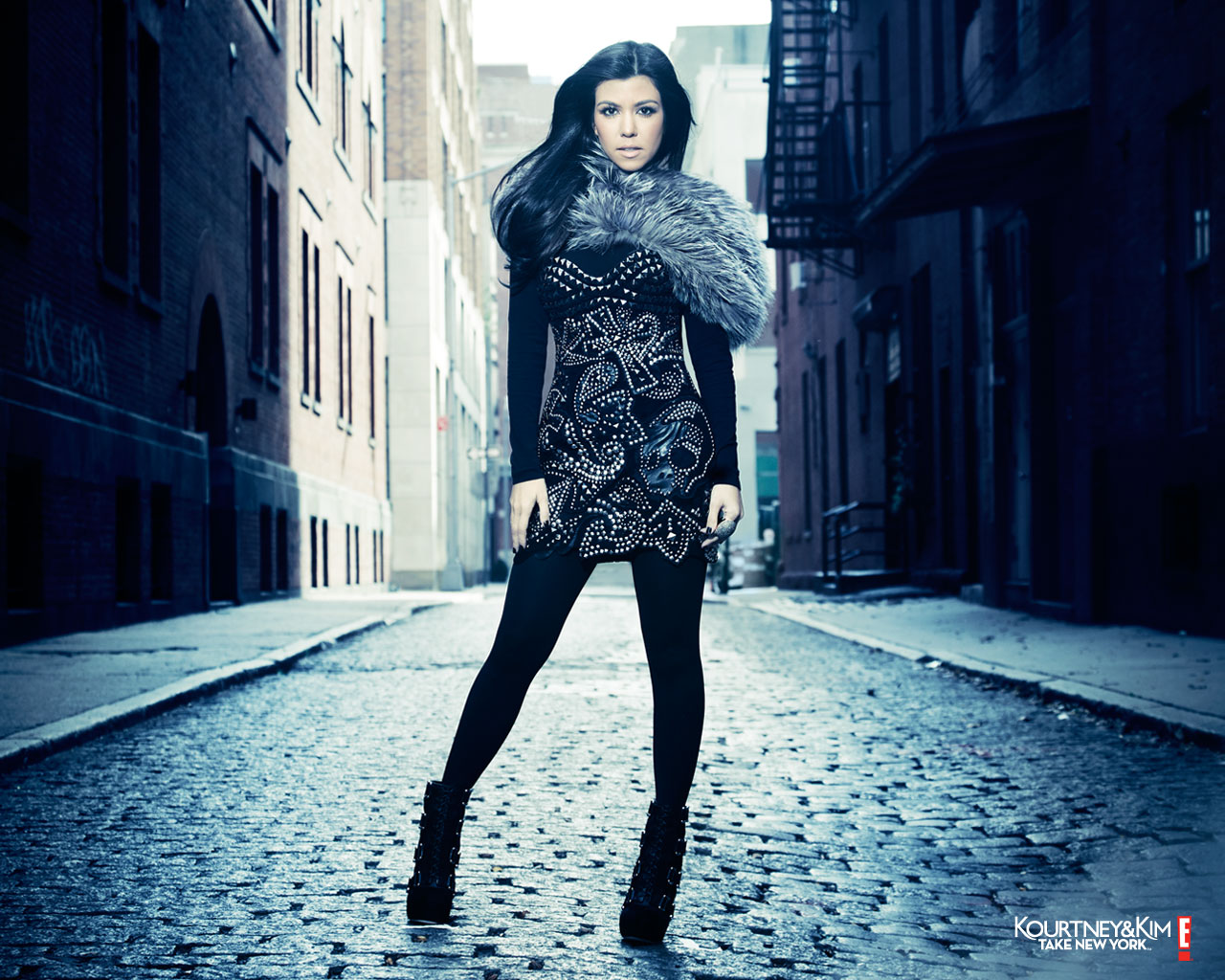 Kourtney Kardashian promo photo for Kourtney and Kim Take New york