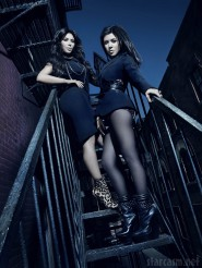Kourtney Kardashian and Kim Kardashian promo photo from KKTNY