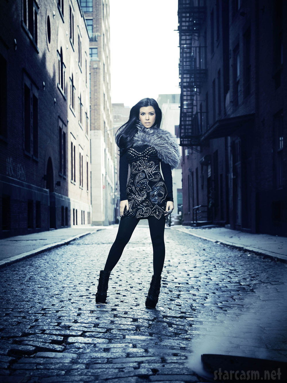 Kourtney Kardashian poses on a NYC street for Kourtney and Kim Take New York