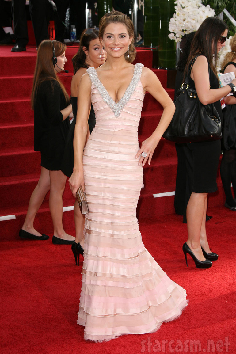 Maria Menounos on the red carpet at the 2011 Golden Globe Awards