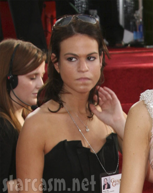 Angry woman at 2011 Golden Globes