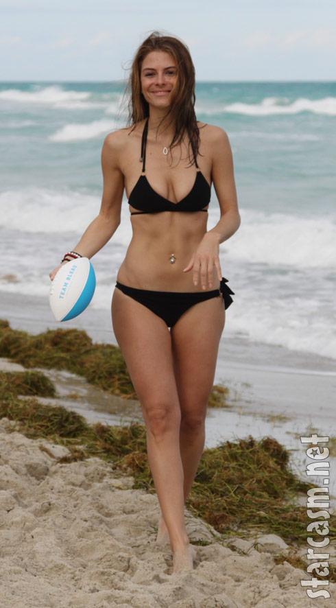 Maria Menounos models a sexy black bikini