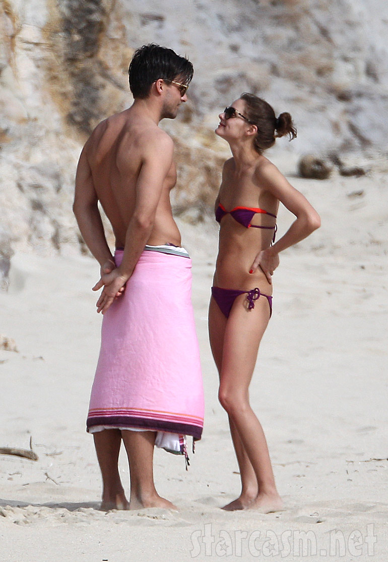 Actress Olivia Palermo and model boyfriend Johannes Huebl in St. Barts