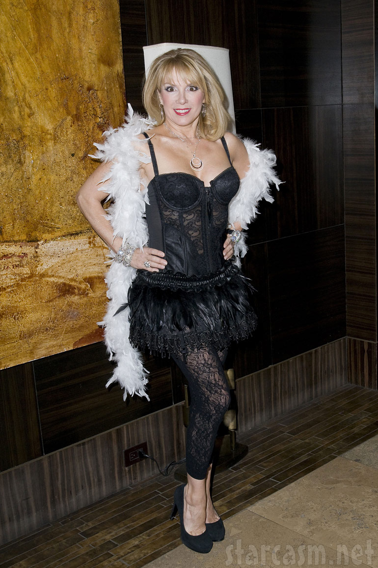Ramona Singer in lingerie for Sonja Tremont-Morgan's Burlesque event