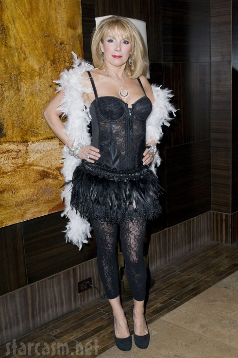 Ramona Singer in Black Swan lingerie at Sonja Morgan's Burlesque event