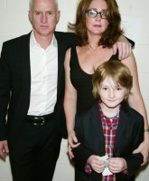 Talia Balsam, John Slattery and their son Harry.