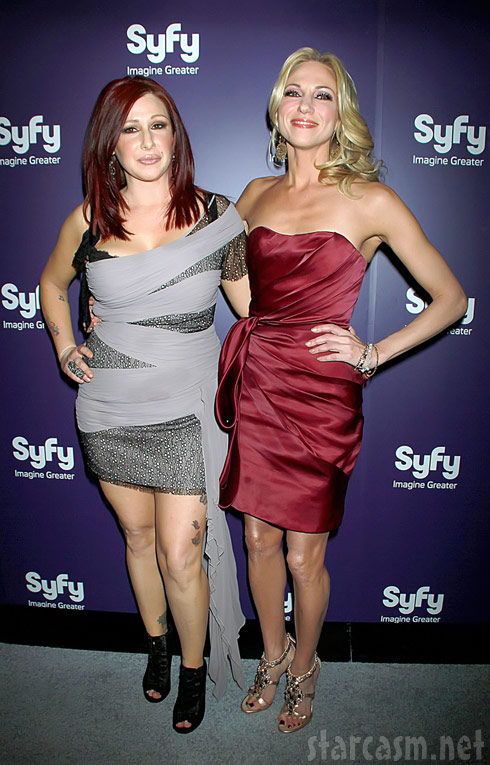 Tiffany and Deborah Gibson at the World Premiere of Mega Python vs. Gatoroid