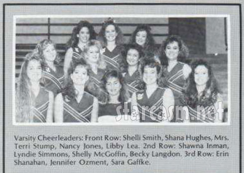 Taylor Armstrong as Shana Hughes member of 1989 Tulsa Union High School cheerleading team