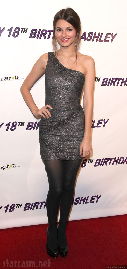 Victoria Justice at Ashley Argota's 18th birthday party