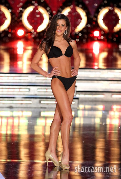 Miss Louisiana Kelsi Crain struts her bikini stuff during the preliminaries for the 2011 Miss America pageant