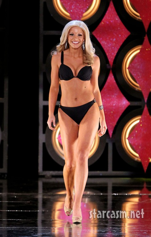 Miss Delaware Kayla Martell rehearses in a bikini for the 2011 Miss America pageant.