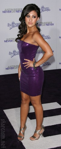 Francia Raisa at the Justin Bieber Never Say Never premiere