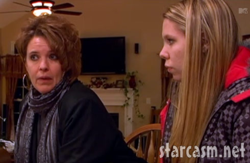 Teen mom Kailyn Lowry with her mother Suzi