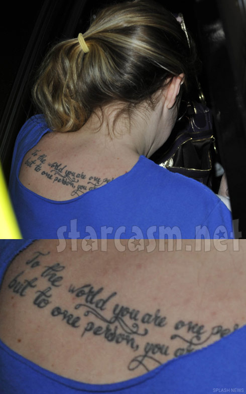 Teen Mom 2 Kailyn Lowry's tattoo on her back and shoulders