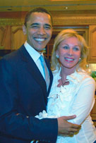 Real Housewives of Miami's Lea Black with President Obama