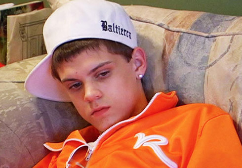What is written on Teen Mom Tyler's hat - Baltierra