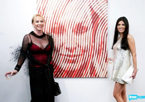 Real Housewives of Miami Adriana De Moura at her art gallery