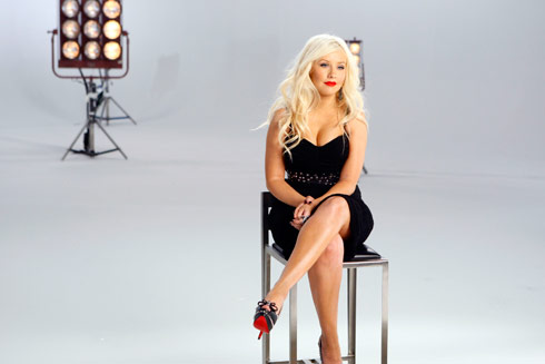 Promo picture of Christina Aguilera from the American Idol competitor The Voice on NBC