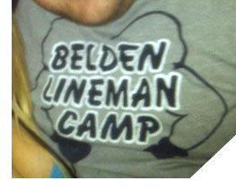 Teen Mom Gary Shirley's infamous Belden Linemen Camp tee shirt