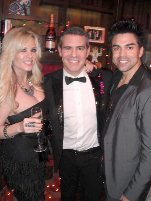 Tamra Barney with Andy Cohen and her new man Eddie Judge
