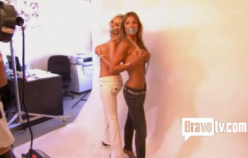 Real Housewives of Orange County's Tamra Barney and Fernanda Rocha topless photo