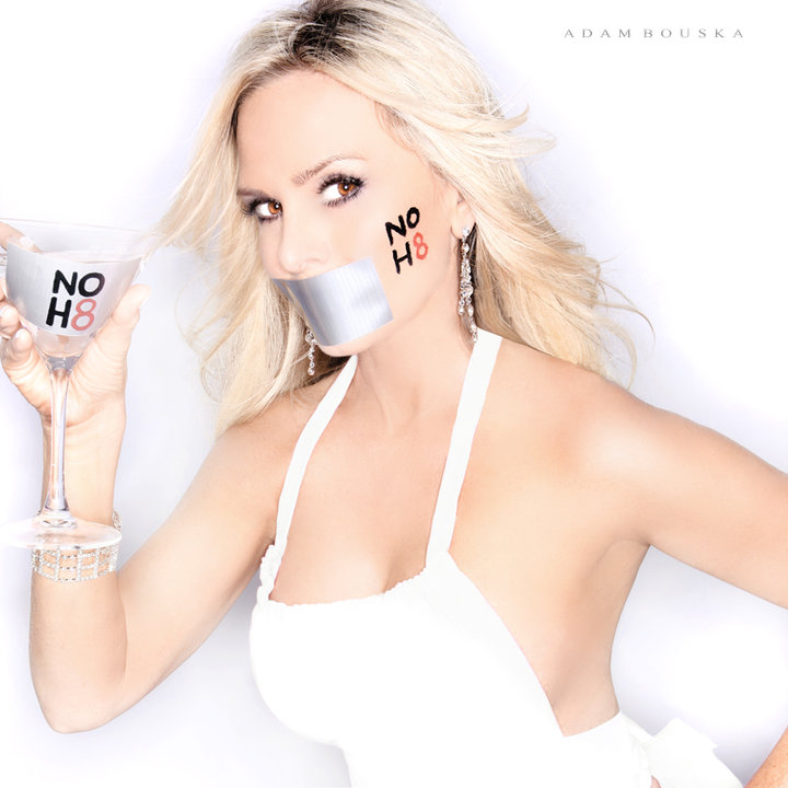 Real Housewives of Orange County's Tamra Barney poses for the NO H8 campaign