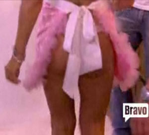 Tamra Barney shows off her firm butt cheeks